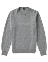 Cornwood Lambswool Crew Neck Jumper in Grey