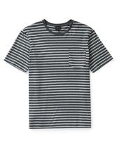 Antill Striped Crew Neck T-shirt in White and Grey