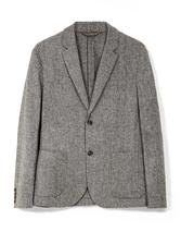 Hooper Wool Blend Blazer in Grey
