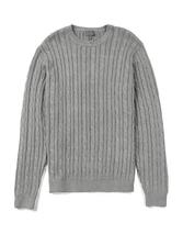 Hainton Cotton Cable Knit Jumper in Grey