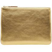 Comme des Garcons SA5100G Gold Wallet in Metallic