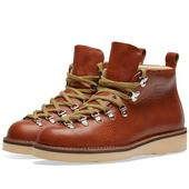 Fracap M120 Natural Vibram Sole Scarponcino Boot in Red