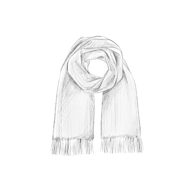 Plain neutral knitted scarf