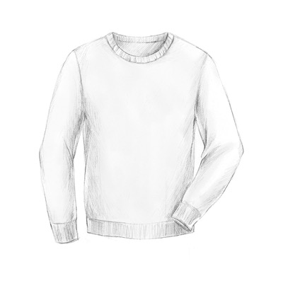 Pale coloured crew neck jumper